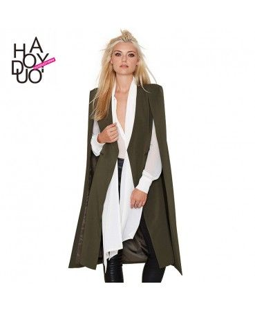 Casual poncho shawl cardigan coat A0870