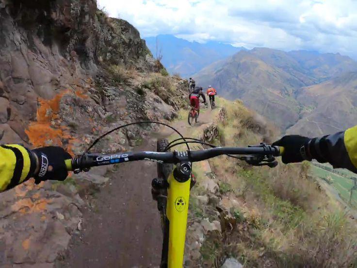 """Scenic view and death fall.""   'EPIC' VIDEO by Geoff Gulevich ▶ https://www.facebook.com/BikeRoar/posts/1453792604669571?utm_content=buffer8a0a3&utm_medium=social&utm_source=pinterest.com&utm_campaign=buffer   #cycling #mtb #adventure #lovetheride #epic #bike #tour"