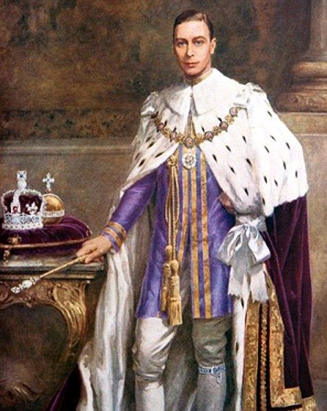 ...later transformed into a coronation portrait of George VI