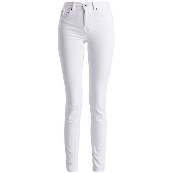 Women's Barbour International Hairpin Skinny Jeans - White ($105) ❤ liked on Polyvore featuring jeans, pants, white skinny jeans, cowboy jeans, western jeans, zipper jeans and slim jeans