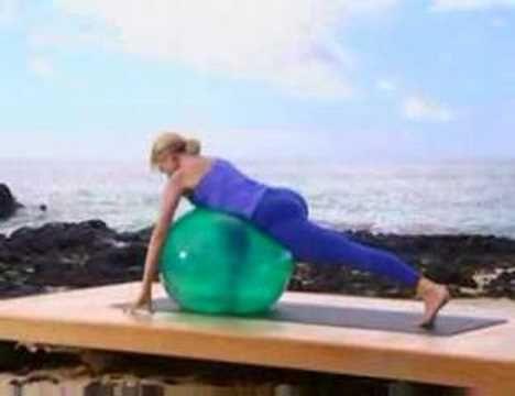 balance ball stretching