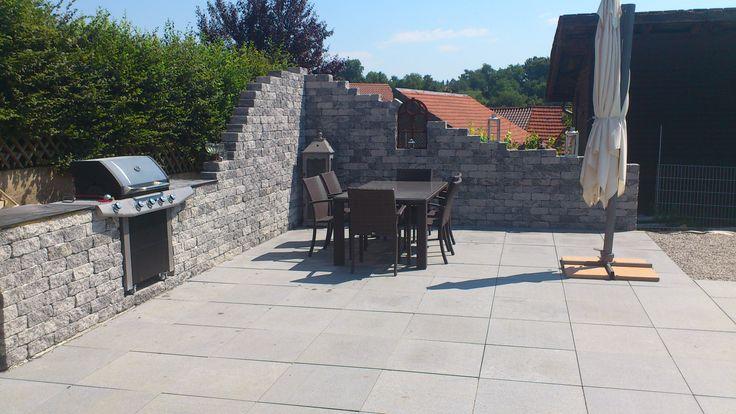 garten steinwand terrasse steinwand pinterest garten. Black Bedroom Furniture Sets. Home Design Ideas