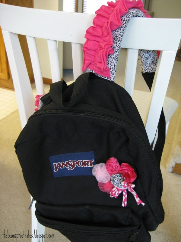 The Bean Sprout Notes: Backpack Strap Covers: Photo Tutorial