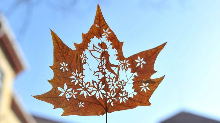Kunst mit Blättern