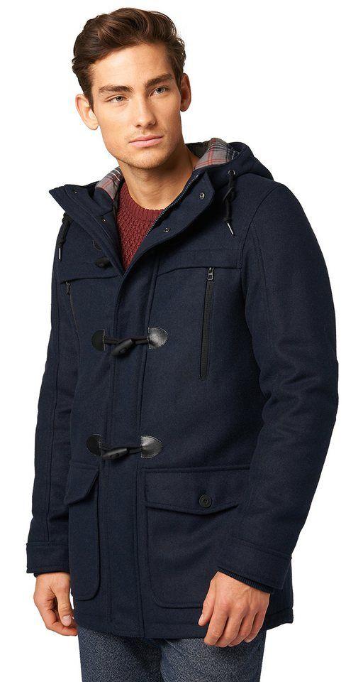 TOM TAILOR DENIM Jacke  Dufflecoat in Woll-Optik - http://www.jackenonline.shop/jacke/tom-tailor-denim-jacke-dufflecoat-in-woll-optik/