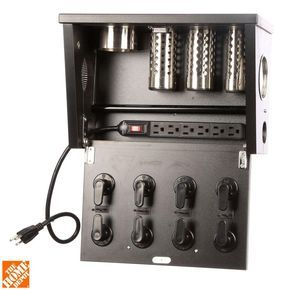 POJJO Wall Mount Hair Appliance Storage System in Black Laminate-VVB-L-BK - The Home Depot