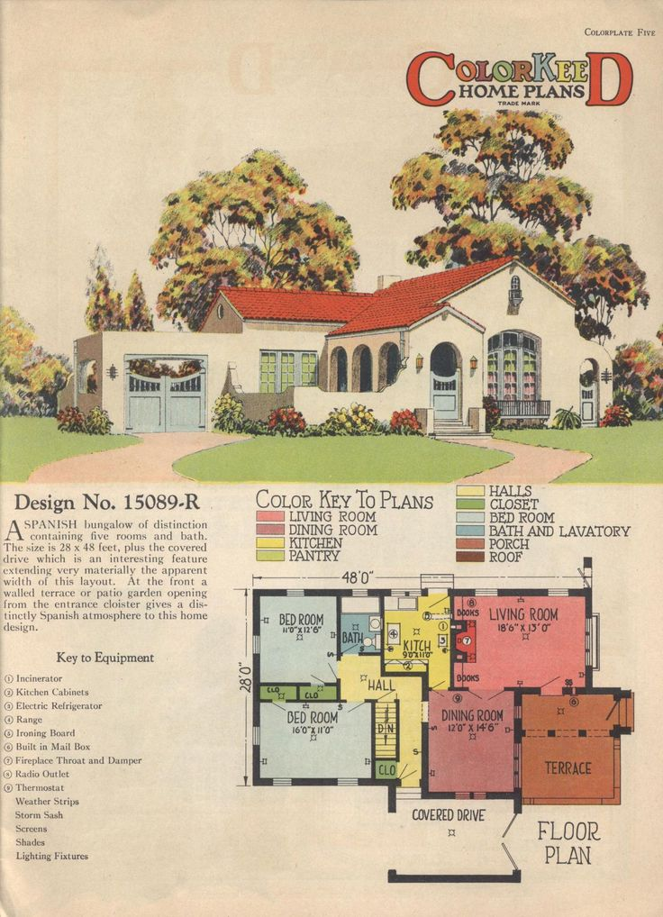 Spanish revival bungalow house plans for Spanish colonial house plans