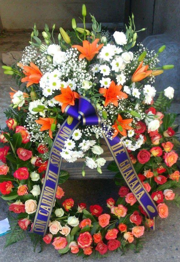 Top 25 ideas about coronas de flores para difuntos on - Coronas de flore ...