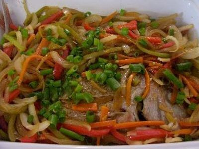 This is my favourite dish back in the Philippines. It's nice if you can use large whole fish for this. I love the sweet and sour taste of it.
