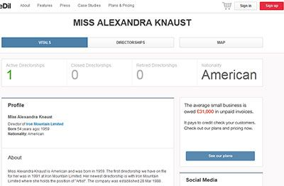 Miss Alexandra Knaust, Iron Mountain Limited - Director Profile