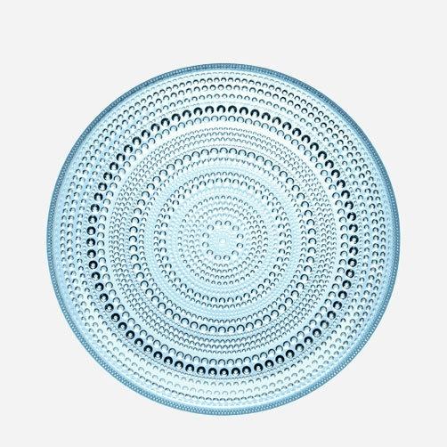 "iittala 10.5"" Kastehelmi Dewdrop Plate in Light Blue"