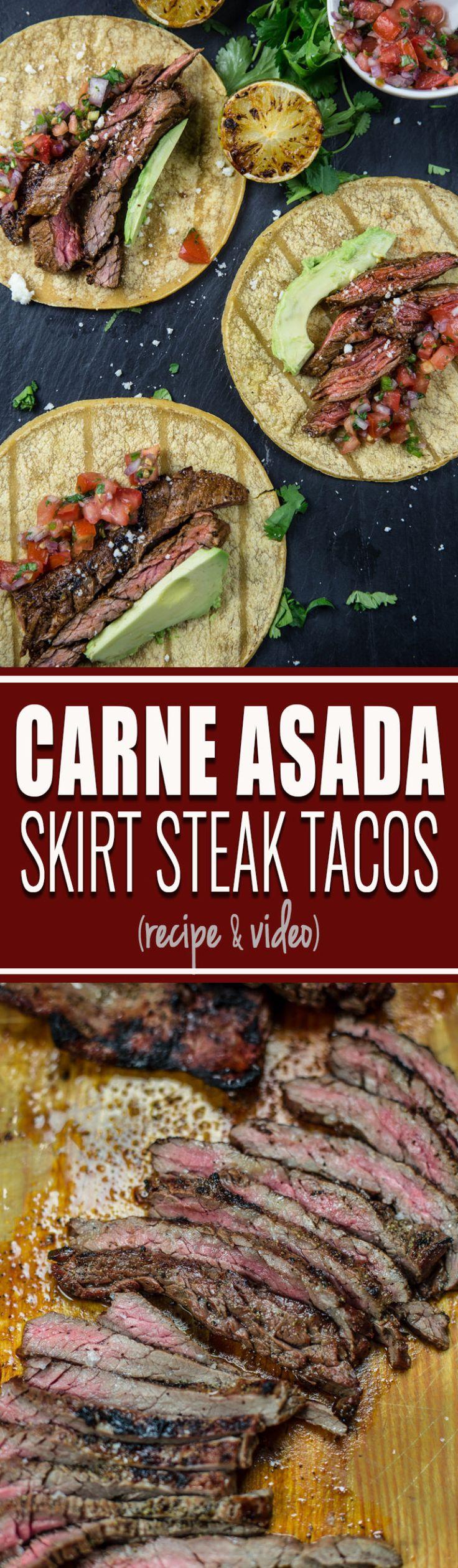 Carne Asada (Marinated Grilled Skirt Steak Tacos)