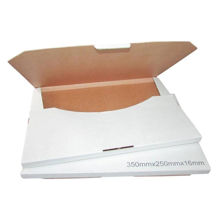 100-x-Cardboard-X-Large-Letter-Mailer-350x250x16mm-White-Packaging-Carton-Box