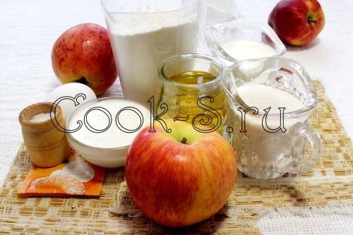 яблоки в тесте - ингредиенты