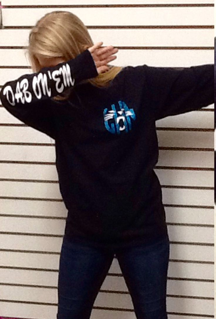 Carolina Panthers Dab on 'Em #GoPanthers Monogram T Shirt by HeyYallandCo on Etsy