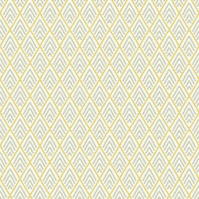 Chalet Wallpaper in Yellow and Grey design by York Wallcoverings | BURKE DECOR