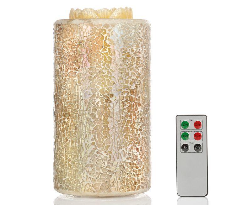 ELAMBIA aqua Wachsbrunnen Wasserflamme Mosaik-Design inkl. FB, H. ca. 20cm online bestellen bei QVC.de