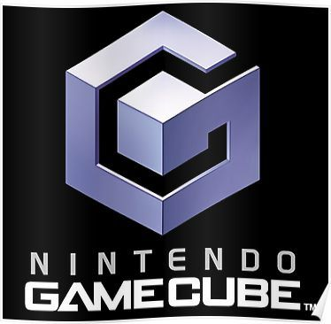 Nintendo Gamecube Logo Poster Video Game Logos Gamecube Games Gamecube