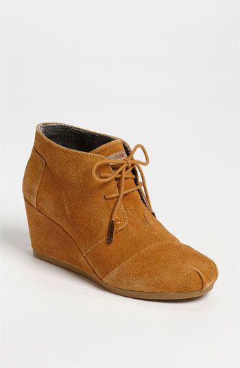 $88, Desert Bootie Chestnut Suede 12 M by Toms. Sold by Nordstrom. Click for more info: http://lookastic.com/women/shop_items/127259/redirect