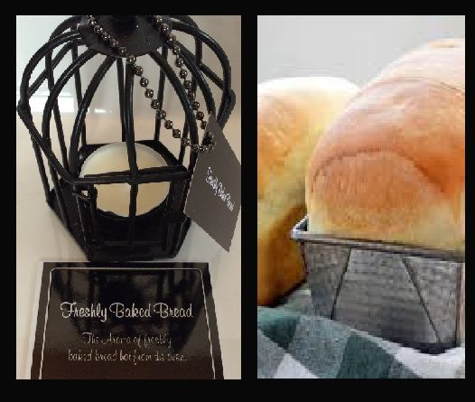 Freshly Baked Bread. The aroma of freshly baked bread hot from the oven. Triple scented soy tealight candles, in attractive birdcage. Perfect for that special gift for family or friends, or to evoke wonderful memories for yourself $US10.86