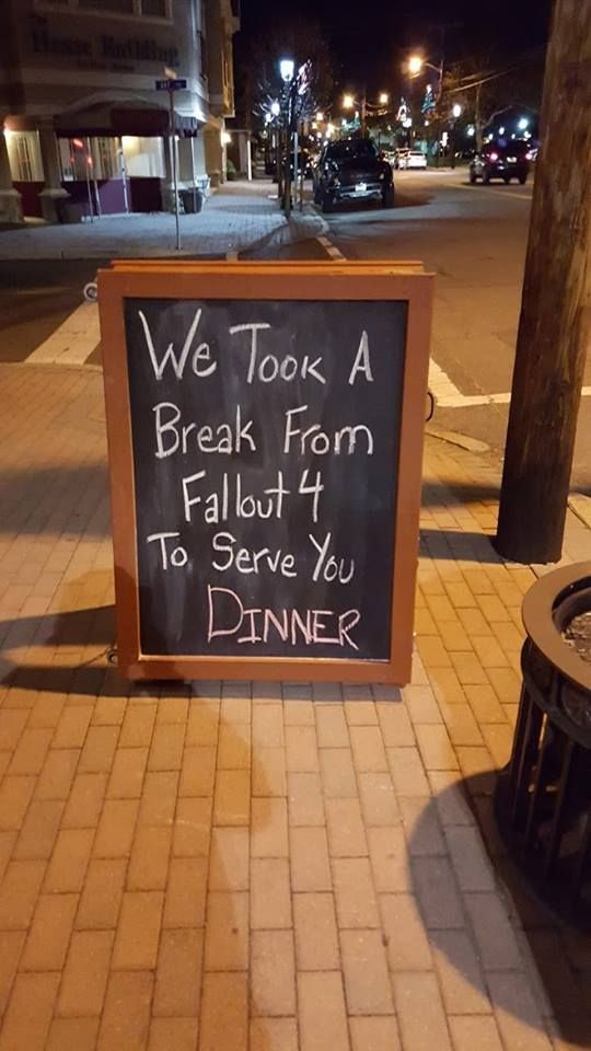 fallout 4 meme 008 took a break to serve dinner