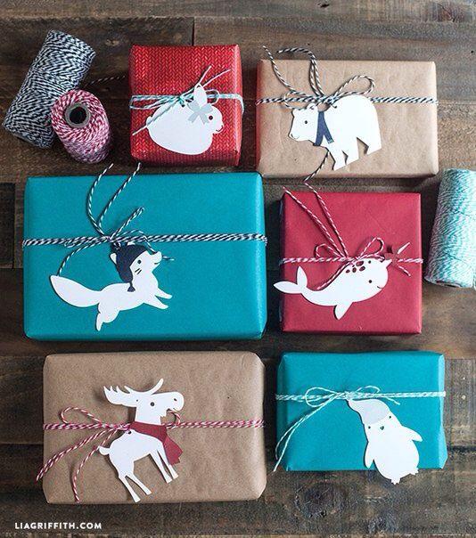 Бирочки для упаковки подарков (шаблоны) / Упаковка подарков / ВТОРАЯ УЛИЦА