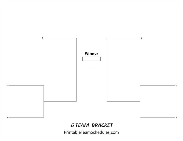 Tournament Bracket - Free Printable 6 team tournament bracket ...
