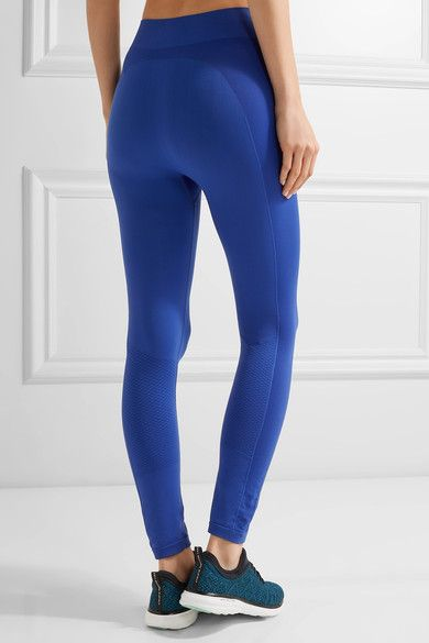 Tory Sport - Seamless Cropped Stretch-jersey Leggings - Blue - x small