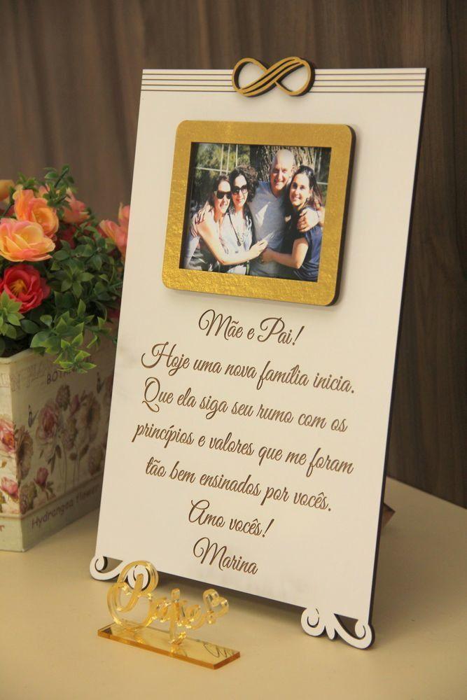 Os pais são as pessoas mais importantes nas nossas vidas, não é mesmo? E quando se trata de casamento, eles ganham espaços ainda mais especiais. Ajudam em todos os momentos, seja financeiramente ou simplesmente ouvindo e dando apoio. Nesta data, eles merecem um mimo, que também seja presente e...