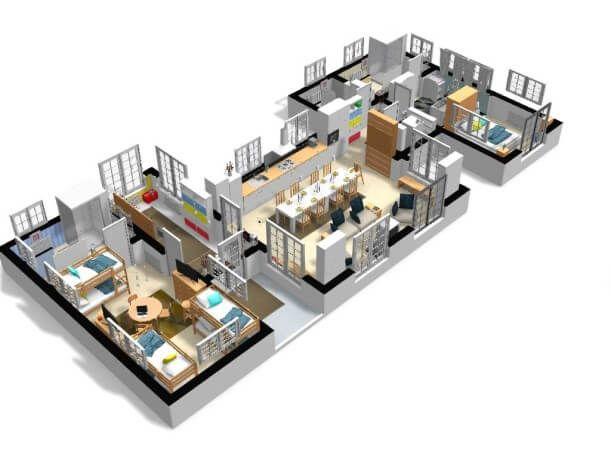 Free And Online 3d Home Design Planner Homebyme Plan De Maison Gratuit Plan Maison 3d Maison 3d