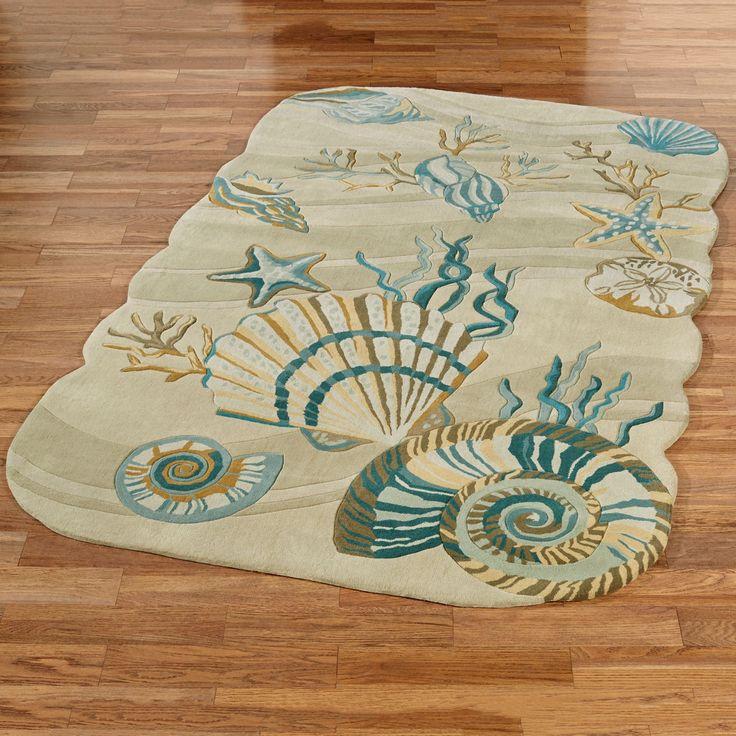 Superior Coastal Dream Seashell Area Rugs