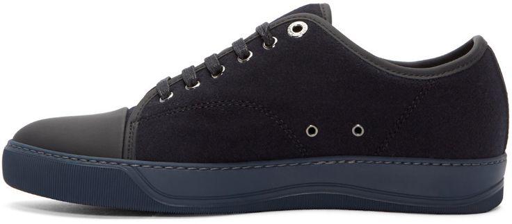 Lanvin - Blue Felt Tennis Sneakers