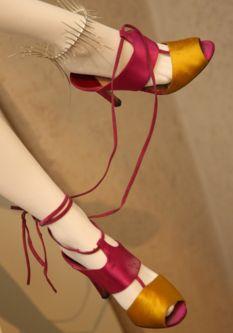 isabella blow's satin heels