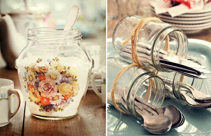 12 ideias para você reaproveitar frascos de vidro   http://www.blogdocasamento.com.br/reaproveitar-frascos-de-vidro/