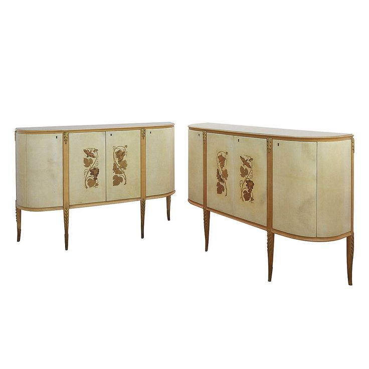 Pair of Credenzas by Giovanni Gariboldi | From a unique collection of antique and modern cabinets at https://www.1stdibs.com/furniture/storage-case-pieces/cabinets/