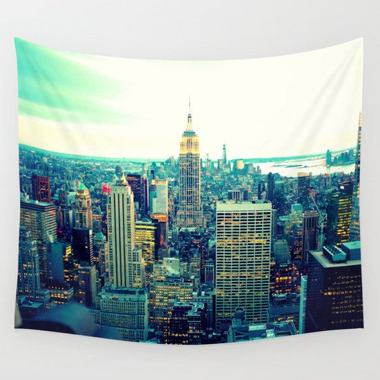 New York City Wall Tapestry by 2sweet4words Designs