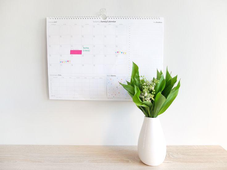 Kalendarz Rodzinny na czerwiec 2017 do wydrukowania - blog o DIY, organizacji, sprzątaniu, dekoracjach dla domu - Niebałaganka