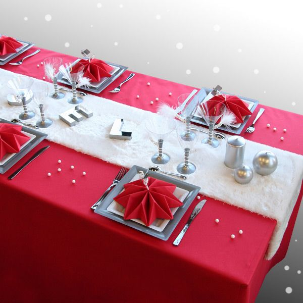 153 best Christmas Table images on Pinterest Xmas, Tray tables and - cuisine rouge et blanc photos