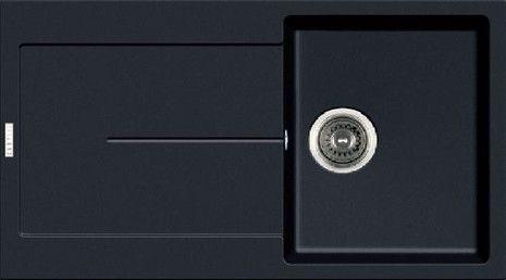Enigma Hansloren zlewozmywak 1-komorowy z ociekaczem 500x860x200 mm korek auto czarny - ENCO-1WAD