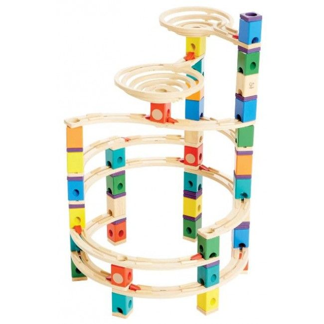 Take your Dad down memory lane with this wooden Quadrilla Marble Run Cyclone Set by Hape! Discover the 12 curved rails and 10 cyclonic accelerators. Let your imagination run wild as you build and re-build the marble run as many times as you want. You'll have as much fun building it as you will playing on it!   http://www.entropy.com.au/quadrilla-marble-run-cyclone-set #entropytoys #fathersdaygifts #giftsfordad