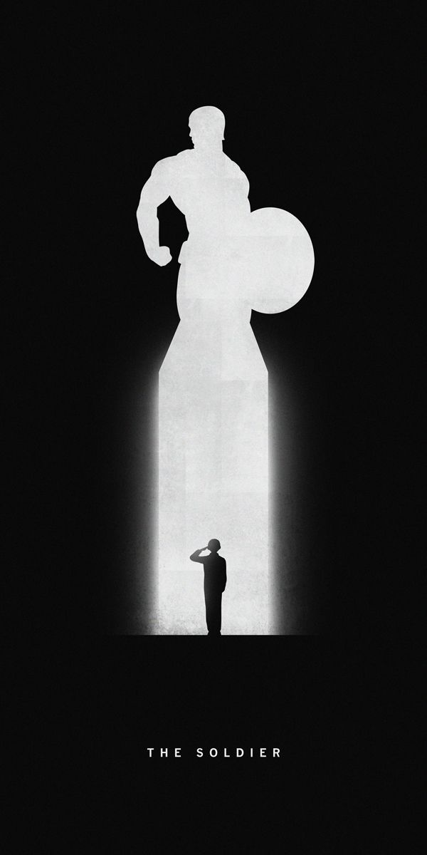 Silhouettes of Superheroes Reveal Their Past and Present - Captain America