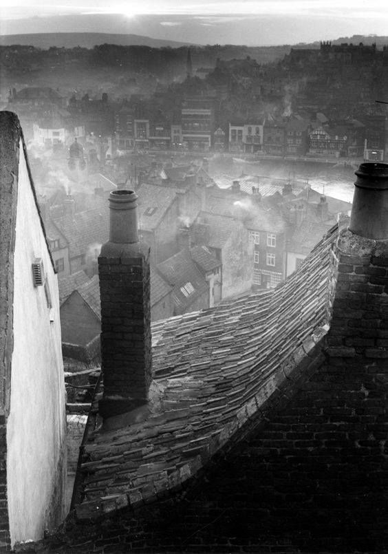 Roofscape, Whitby, North Yorkshire photo by Edwin Smith, 1959