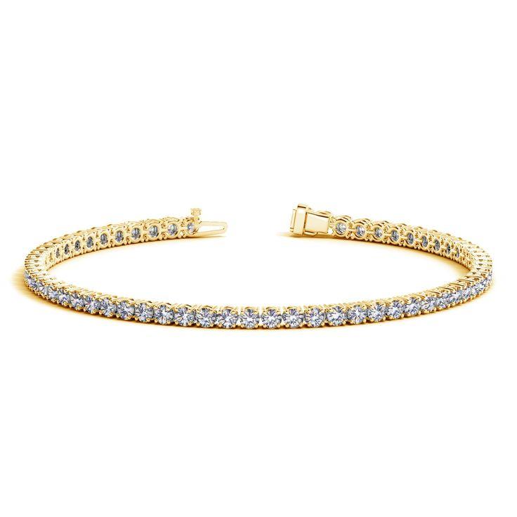 14K Yellow Gold Round Diamond Tennis Bracelet (4 ct. tw.)