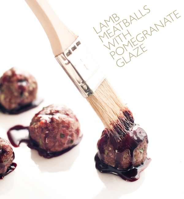 lamb meatballs with pomegranate glaze | Healthy eating | Pinterest