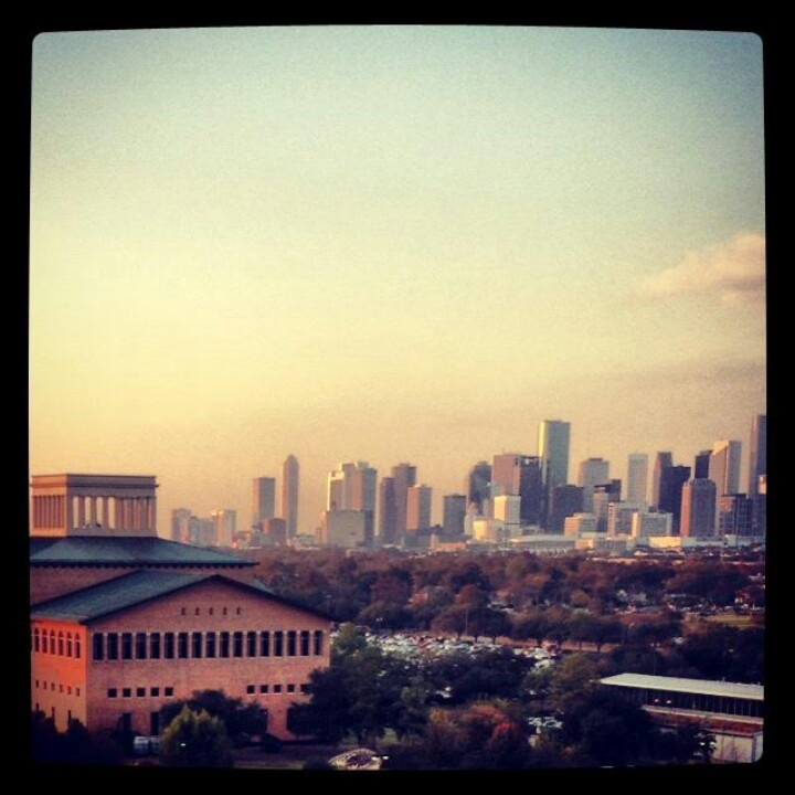 View of Downtown Houston from the University of Houston.