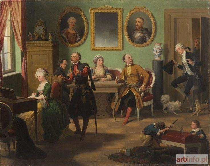 January SUCHODOLSKI ● Scena rodzajowa: Ach, jakżeś okrutna, 1861 r. ● Aukcja ● Artinfo.pl