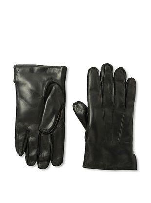 Portolano Men's Faux Fur-Lined Leather Gloves