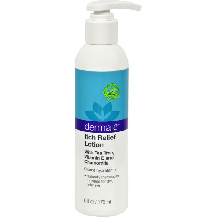 Derma E Itch Relief Lotion - 6 fl oz - Derma E Itch Relief Lotion Description:   With Tea Tree E and Chamomile Derma E Itch Relief Lotion with Tea Tree E and Chamomile - is a rich natural moisturizer that provides instant relief from skin itching and irritation caused by dermatitis sunburn dryness rashes and bacteria and funguses. Tea Trees - potent antifungal/antibacterial properties penetrate quickly for immediate relief. Dose not contain cortisone. Vitamin Es antioxidant and moisturizing…