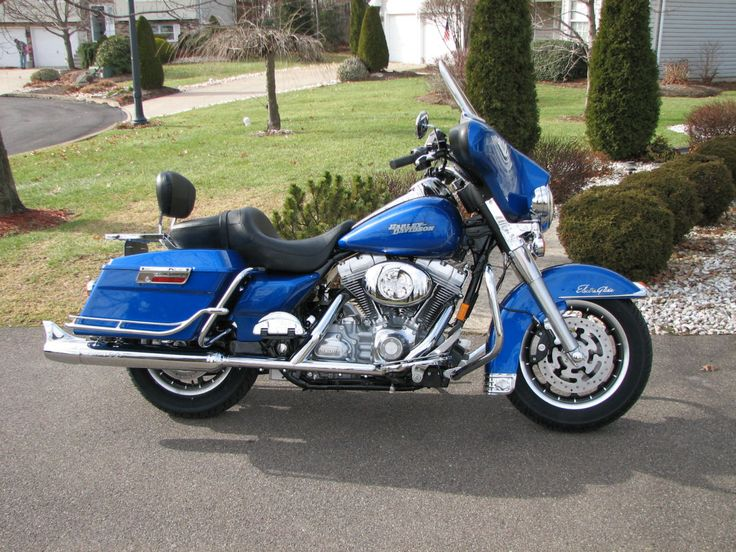 """Harley-Davidson """"Electra Glide In Blue"""". We rented a Electra Glide for a trip to a Sun Valley B & B great ride, great trip with my hubby."""