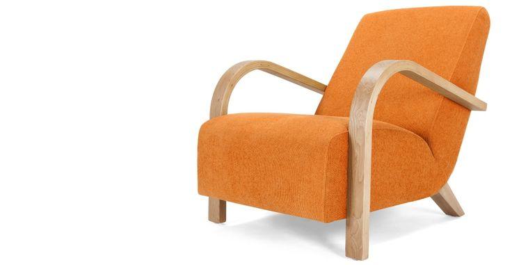 Grace Armchair, Lava Orange | made.com